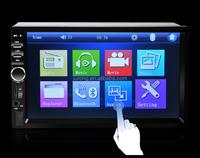 7018B 7 Inch LCD HD Double DIN Car In-Dash Touch Screen Bluetooth Car Stereo FM MP3 MP5 Radio Player +car Camera