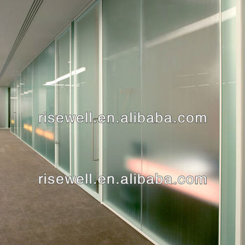 Sound proof glass office partition