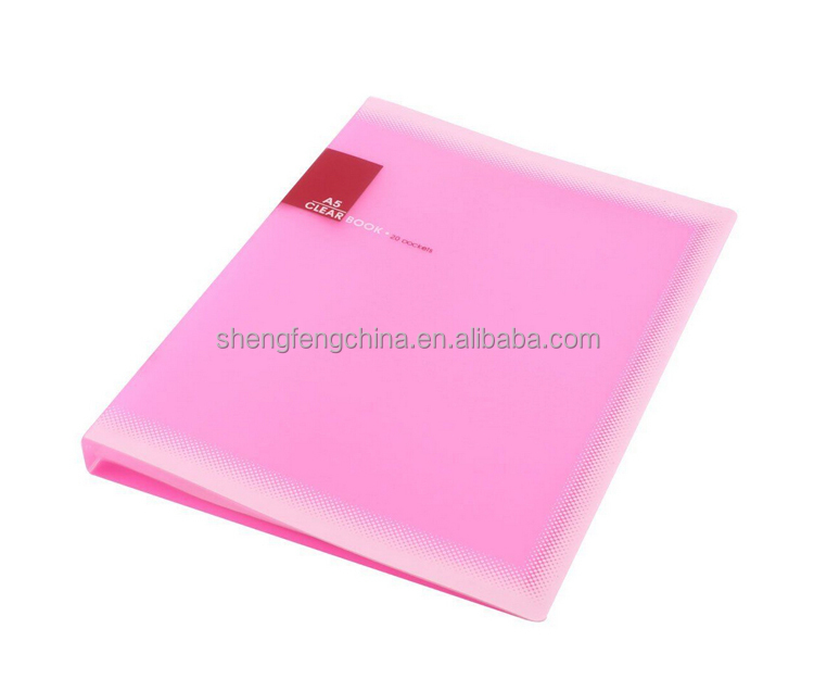 plastic A5 paper 20 pockets file document folder holder