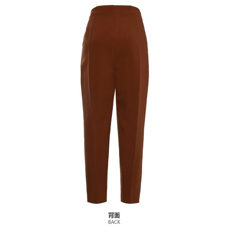 2016 Latest long brown trousers for women