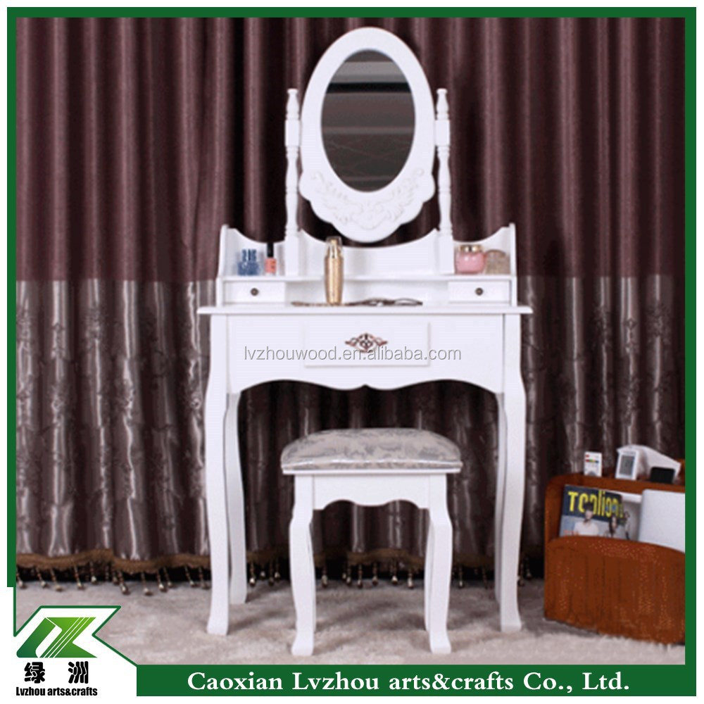 The latest design wholesale price make up table white dressing table