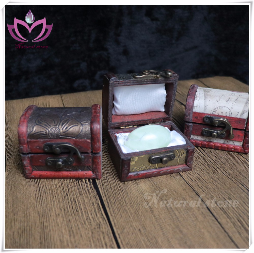 hot sale coppering antiqued 7*5*5cm wooden gift box for single yoni eggs
