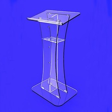 Clear Acrylic Plexiglass Award Winner Podium, Acrylic Pulpit Podium Furniture