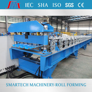 High Class aluminum galvanized sheet roof tile cold roll forming/making machine with pre-cutting