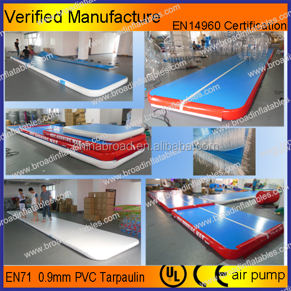 Outdoor Gym Equipment inflatable air tumble track, inflatable air track australia, inflatable air track gymnastics
