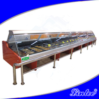 OEM factory supermarket commercial cooked food heating display case LTBS06R
