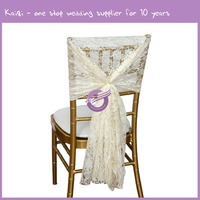 19773 Wedding Hire Beautiful Lace Sash Chair Covers For Weddings Hire