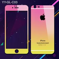 Colorful full cover tempered glass screen protector for iPhone6s Plus .