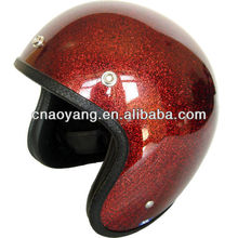 2014 Great Quality FRP/ABS Open Face Motorcycle Helmet With Red Shining Flake Painting