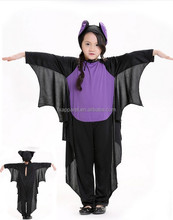 Plus size Long sleeve long pants one piece children bat costume halloween cosplay costume