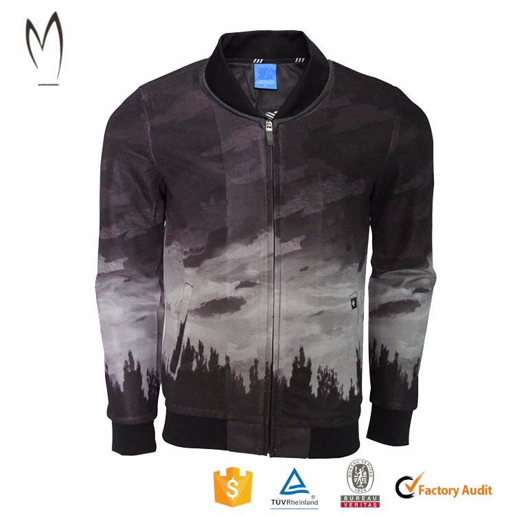 Wholesale custom Fashion Poly Camouflage Bomber Jacket mens Varsity Jacket
