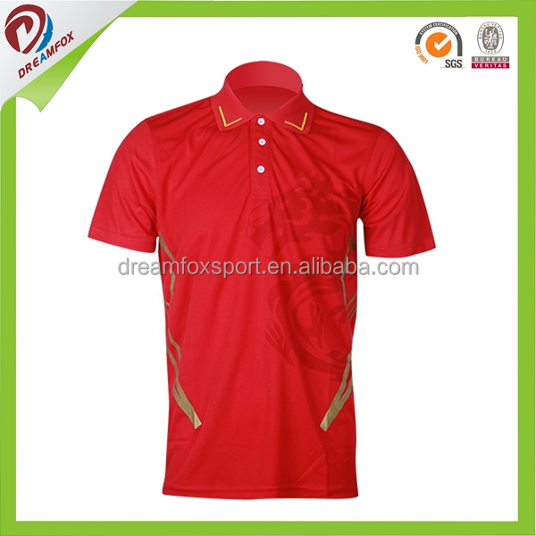 Slim fit 100% polyester cool dry fabric boys polo shirt