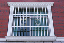 Latest metal decorative fixed window grill grille design