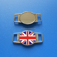 Union Jack England Flag Metal Sneaker Charms Shoelace Tags, UK