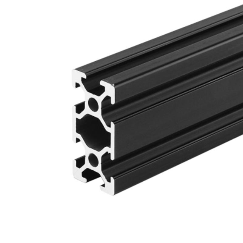 6063 silver black anodizing t slot aluminium extrusion 2040 v slot for linear rail 3D printer frame