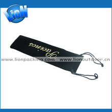 promotional chinese black drawstring velvet ball pouches with logo