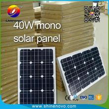 Highest efficiency cell photovoltaic 40w solar panels per watt price