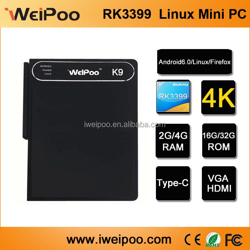 Hot sale GiantSmart Linux IPTV TV BOX Mini PC Rockchip 3399
