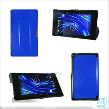 Ultra-thin blue color flip leather stand case for Google New Nexus 7 2nd P-GGNEXUS7IICASE015