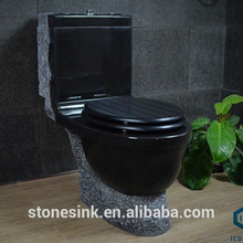 Bathroom sanitary ware Finished Mongolia black stone made eastern Western style toilet