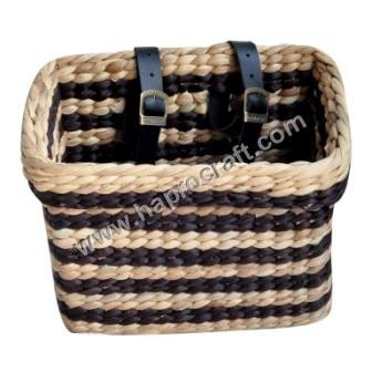 rectangle water hyacinth basket for bicycle ( HLB 1728)