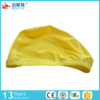 China factory price oem odm simple style polyester ladies swim cap