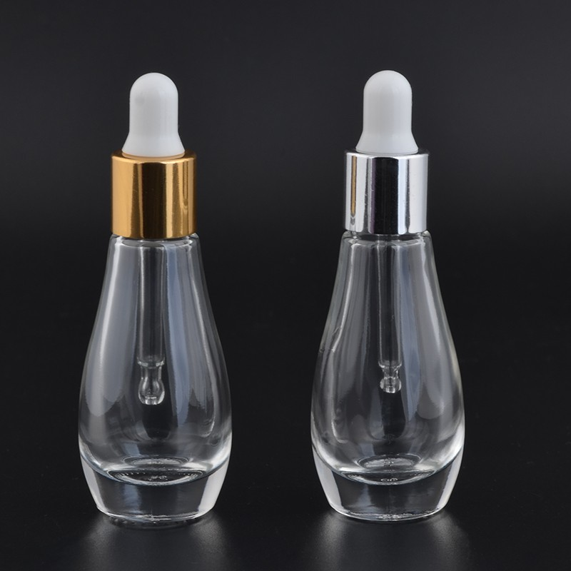 8ml 9ml empty transparent glass dropper bottles with aluminum cap