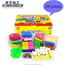 24 colors Soft Polymer Clay with clay tool kit jumping clay for kids