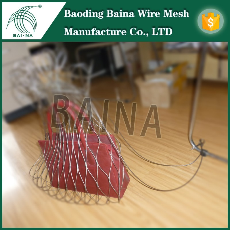 85L stainless steel metal rope mesh bag with galvanized square wire mesh