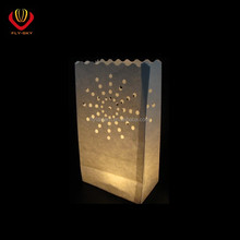 Paper candle bag lantern outdoor lighted sunflower luminary bag for wedding party decoration