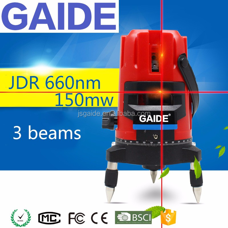 JDR 660nm 150mw construct leveling rotating cross lines laser level