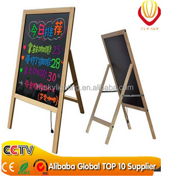 Alibaba express hot new products for 2016 advertising screens wooden LED writing board alibaba best sellers