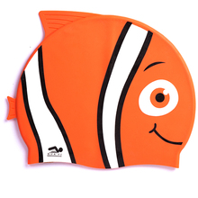 Waterproof Watersport Kids Fish Silicone Swimming caps