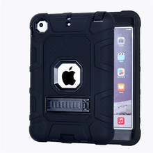 (Free Shipping FBA United States) Protective PC Silicone Case for ipad mini 1 2 3 kids
