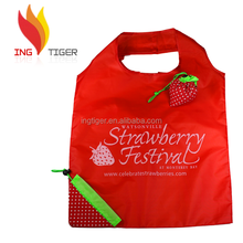 2017 Eco Friendly Customized Logo Branded Promotion folding rose shopping bag