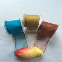 Wired Plain Organza Ribbon for Gift Pack