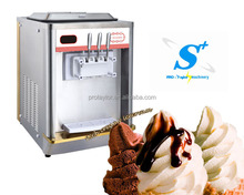 Automatic counter top 2014 commercial frozen yogurt machine price (ICM-T122)
