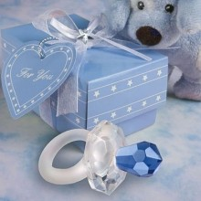 Fashion blue Crystal pacifier wedding decoration in wedding supplies
