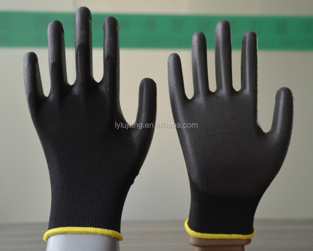 13g gloves pu coated/ansell edge 48-126 palm pu coated industrial working gloves