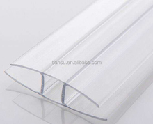 ISO9001 quality insurance polycarbonate sheet accessories PC H profile/clip