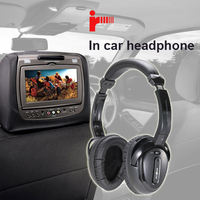 In car entertainment wireless infra red dvd player headphones