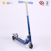 China factory manufacture OEM accept durable Aluminum alloy folding 3 PVC/PU/TPR wheels kids kick scooter