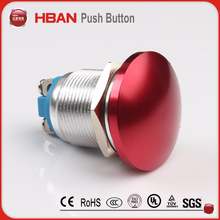 colorful head emergency stop metal switch 16mm 19mm 22mm 1NO push button switch wholesaler