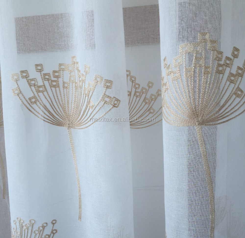 Professional manufacturer embroidery curtain fabric design for hand embroidery designs