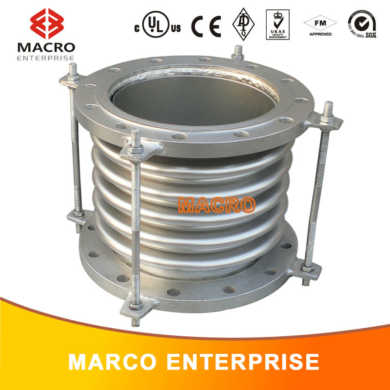 flange connection type damping corrugated tube