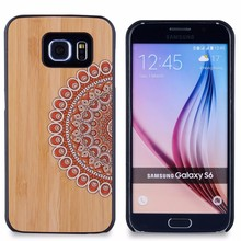 2015 hot sale for Samsung Galaxy S6 wood cases for Samsung Galaxy S6 case wooden wholesale cell phone accessories
