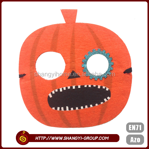 Pumpkin cute design polyester wholesale custom face ugly halloween mask