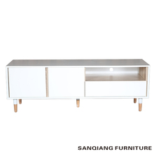 SANQIANG Small size solid wood TV stand 3 drawers storage cabinet