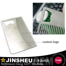 Popular men salon wallet comb with bottle opener