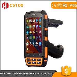 C5100 Rugged IP 65 Android 5.1 4G PDA with Barcode/Fingerprint Reader and Long Distance UHF Reader